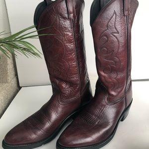 Old West - Dark Burgundy Brown Cowboy Boots - 12D